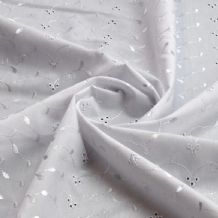 White Embroidered Cotton